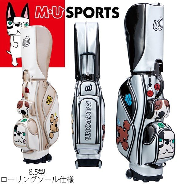 M・U SPORTS MUスポーツ ゴルフバッグ レディース ローリングソール キャディバッグ 8.5型 2018秋冬新作 NEW MU18AW 0820
