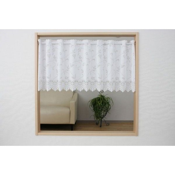 小さなカーテン 窓のサイズに合わせて(横幅)サイズオーダー承ります  カフェカーテン UVカットサラサ 50cm丈|stylish-interior|04