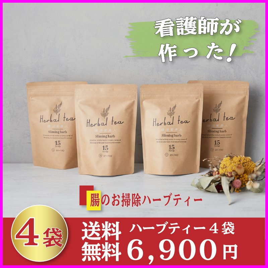 健康茶 ルイボスティー ハーブティー お茶 ダイエットティー 腸活 素美人 健康 リラックス 父の日 ダイエット キャンドルブッシュ 4袋セット 3g×60包 サプリ subijin