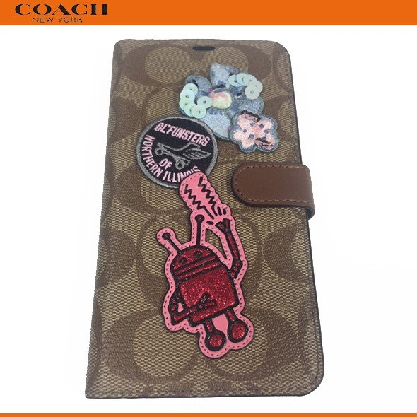 COACH Keith Haring for iPhone X Max Folio Flip Case Wallet ID New