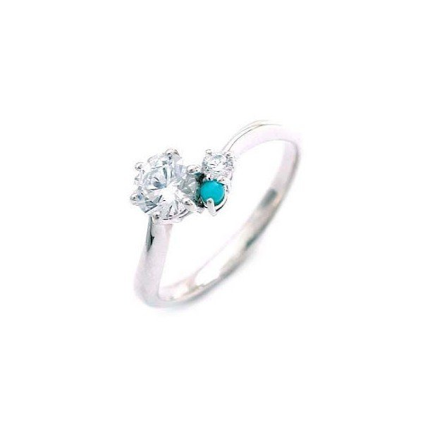 【海外限定】 婚約指輪 エンゲージリング ダイヤモンド ダイヤ リング 指輪 人気 ダイヤ プラチナ リング ターコイズ 0.35ct セール, ビビット通販2号店 43dcc36b