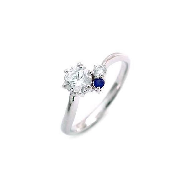 【期間限定!最安値挑戦】 エンゲージリング 婚約指輪 ダイヤモンド ダイヤ プラチナ リング サファイア 0.35ct セール, web store BINGOYA -- 98e1b8eb