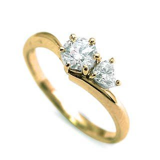【通販 人気】 婚約指輪 ダイヤモンド ダイヤ リング エンゲージリング K18イエローゴールド SIクラス 0.20ct 鑑定書付 バラ 付ケースセット セール, エムアール企画 ef730351