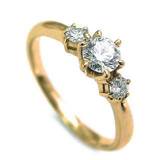 信頼 婚約指輪 ダイヤモンド ダイヤ リング エンゲージリング K18イエローゴールドVSクラス 0.20ct 鑑定書付 バラ 付ケースセット セール, 糸魚川市 c26f19f3