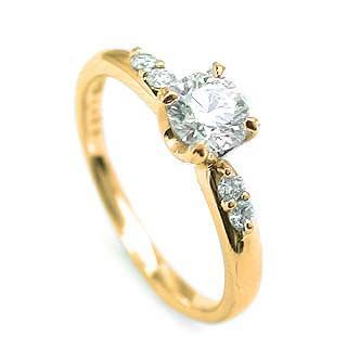 ー品販売  婚約指輪 ダイヤモンド ダイヤ リング エンゲージリング K18イエローゴールドVSクラス 0.20ct 鑑定書付 バラ 付ケースセット セール, ink77 4daaef0d
