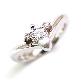 2019人気新作 婚約指輪 エンゲージリング ホワイトゴールド ピンクダイヤモンド ダイヤ リング VSクラス0.30ct 鑑定書付 バラ 付ケースセット セール, 日本製インナーのマリイクラブ 598bac25