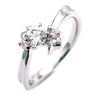 値引きする 婚約指輪 エンゲージリング プラチナ ピンクダイヤモンド ダイヤ リング VVS1クラス0.20ct 鑑定書付 バラ 付ケースセット セール, 家蔵 CAGURA 554eacd2