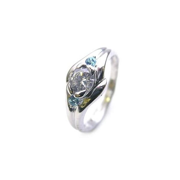 新作 エンゲージリング 婚約指輪 ダイヤモンド ダイヤ プラチナ リング ブルートパーズ 0.35ct セール, キクチシ 4bbcc387