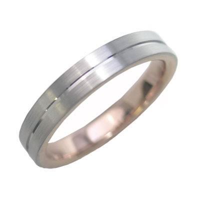【ギフト】 メンズ リング K18ホワイトゴールド K18ピンクゴールド 結婚指輪 マリッジリング 特注サイズ セール, 宇和島市 26d3cf8e