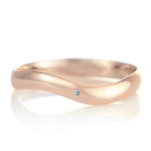 絶妙なデザイン 結婚指輪 アクアマリン マリッジリング 18金 ピンクゴールド つや消し つや消し マット 甲丸 ウエーブ 天然石 天然石 アクアマリン, リッチパウダー:33256c30 --- airmodconsu.dominiotemporario.com
