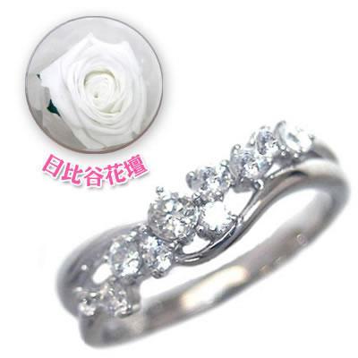 【オープニングセール】 ダイヤモンド指輪 4月誕生石結婚10周年記念 K18ホワイトゴールド ダイヤモンドドリング 限定 日比谷花壇誕生色バラ付 セール, ソムリエ@ギフト 7433d03f