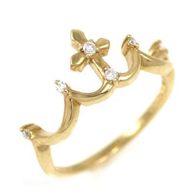 指輪レディース ダイヤモンド指輪 ピンキーリング ピンキー リング ゴールド ダイヤモンド ティアラ ファランジリング【今だけ代引手数料無料】|suehiro