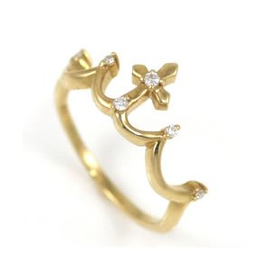 指輪レディース ダイヤモンド指輪 ピンキーリング ピンキー リング ゴールド ダイヤモンド ティアラ ファランジリング【今だけ代引手数料無料】|suehiro|02