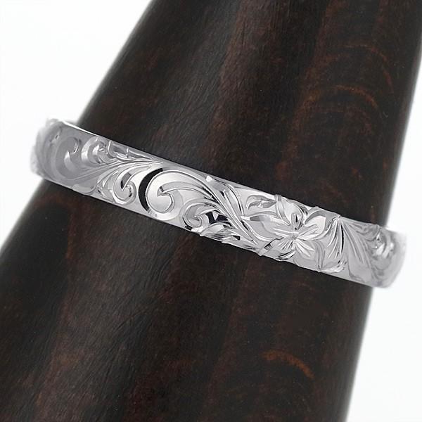 ハワイアンジュエリー メンズ 指輪 プラチナ 幅約4mm スクロール ハワジュ【今だけ代引手数料無料】|suehiro|02
