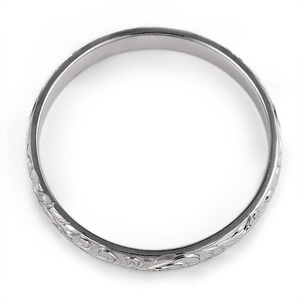 ハワイアンジュエリー メンズ 指輪 プラチナ 幅約4mm スクロール ハワジュ【今だけ代引手数料無料】|suehiro|03