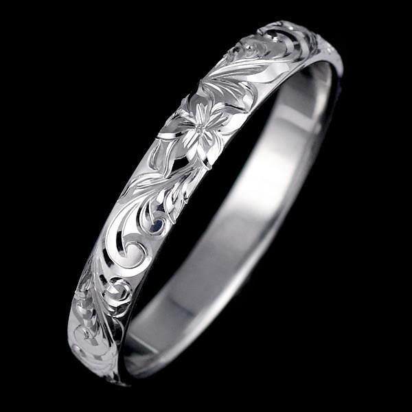 ハワイアンジュエリー メンズ 指輪 プラチナ 幅約4mm スクロール ハワジュ【今だけ代引手数料無料】|suehiro|04