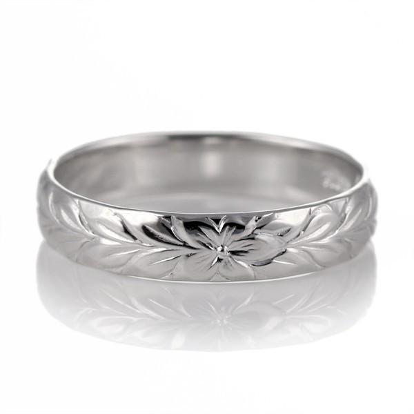 【サイズ交換OK】 ハワイアンジュエリー レディース 指輪 幅約4mm ホワイトゴールド 18金 幅約4mm 指輪 マイレ セール, サンワムラ:d31398f6 --- airmodconsu.dominiotemporario.com