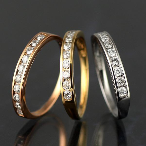 ダイヤモンド指輪 エタニティリング ダイヤモンド リング 指輪 0.3カラット プラチナ イエローゴールド ピンクゴールド 結婚 10周年【今だけ代引手数料無料】|suehiro
