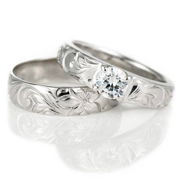 【おすすめ】 ハワイアンジュエリー 結婚指輪 鑑定書付き ハワイアン ダイヤモンド リング 一粒 大粒 指輪 VS ホワイトゴールドK18 ハワイアンリング 18金 K18WG セール, 創造生活館 6573207a