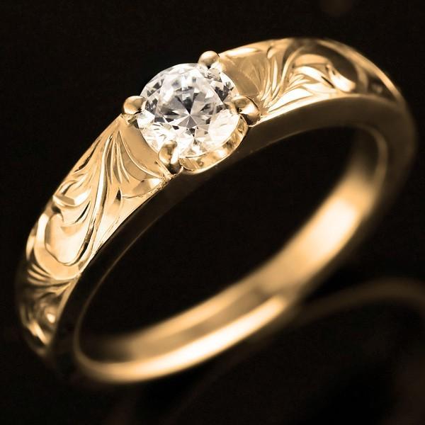 超人気新品 ハワイアンジュエリー 指輪 ピンキーリング 鑑定書付き ダイヤモンド リング 一粒 大粒 VS 指輪 イエローゴールドK18 18金 ストレート セール, サエキチョウ ecc968c1