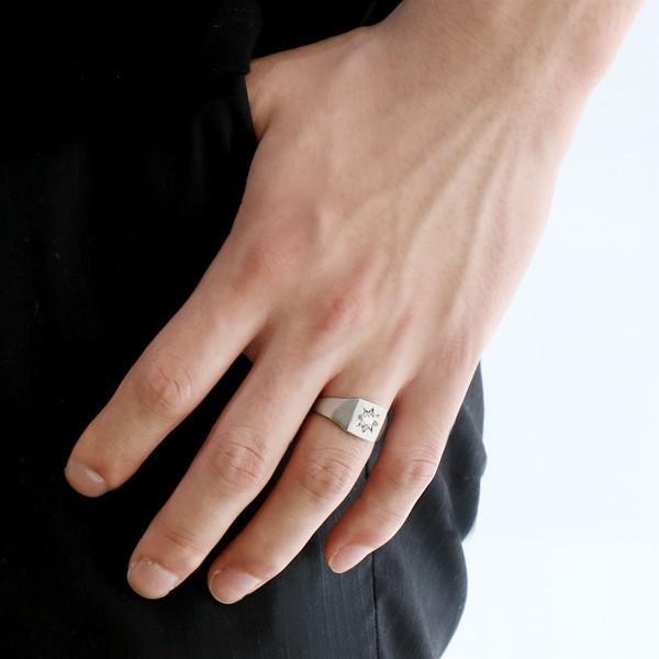 ジルコニア 指輪 ペアリング 安い 印台リング 指輪 キュービックジルコニア 一粒 シルバー925 リング ペア【今だけ代引手数料無料】 suehiro 06