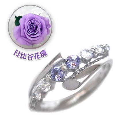 人気激安 ダイヤモンド指輪 12月誕生石結婚10周年記念 K18ホワイトゴールド タンザナイト ダイヤモンドリング 限定 日比谷花壇誕生色バラ付 セール, RUBBERSOUL 8a56cbd5