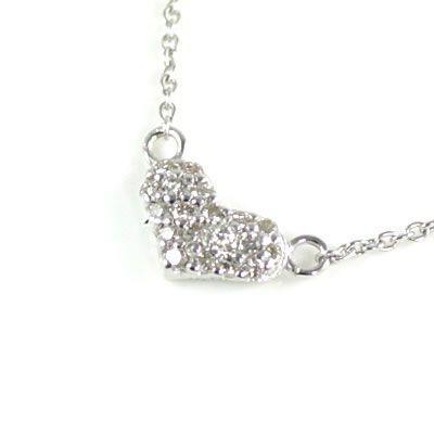 大きな取引 Brand Jewelry me. K10ホワイトゴールド ダイヤモンド ペンダント ネックレス ハート セール, cicak & tokek 5a0d4d30