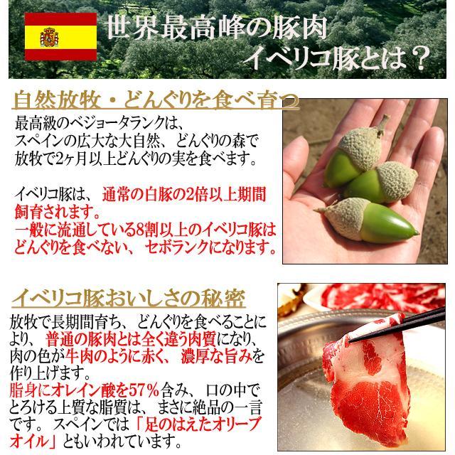 イベリコ豚 ロース ステーキ肉 2枚×100g ベジョータ 豚肉 お歳暮 お肉 食品 食べ物 ギフト グルメ|suehiroya|09