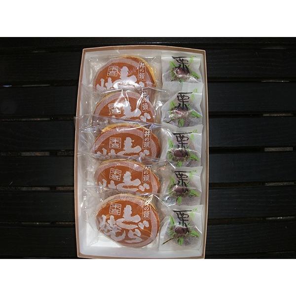 和菓子詰め合わせ1「栗まんじゅう5個/井の頭どら焼き5個」2150円(税込)のし無料対応します|sueki3154