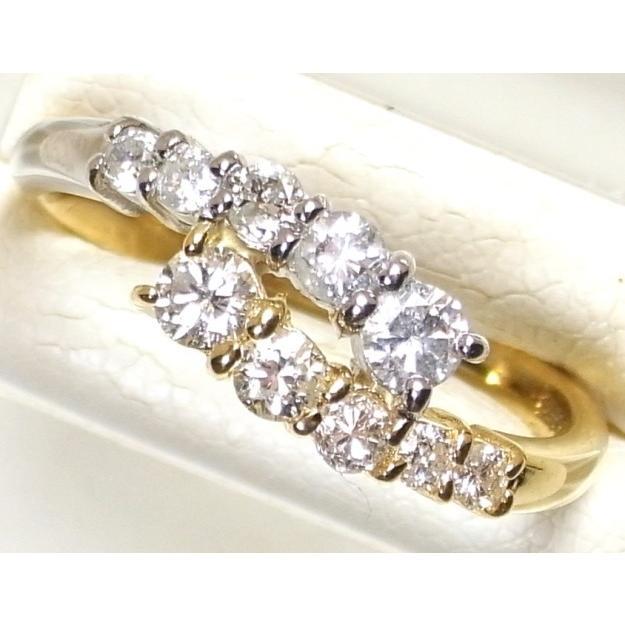 週間売れ筋 Pt900(プラチナ)/K18(ゴールド) ダイヤモンド 指輪 リング 12号, 海部郡 6b026c32