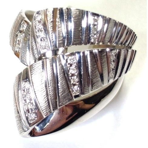 【まとめ買い】 K18WG(ホワイトゴールド) ダイヤモンド 指輪 リング 18号, DEAR-stoa 6370d9fb