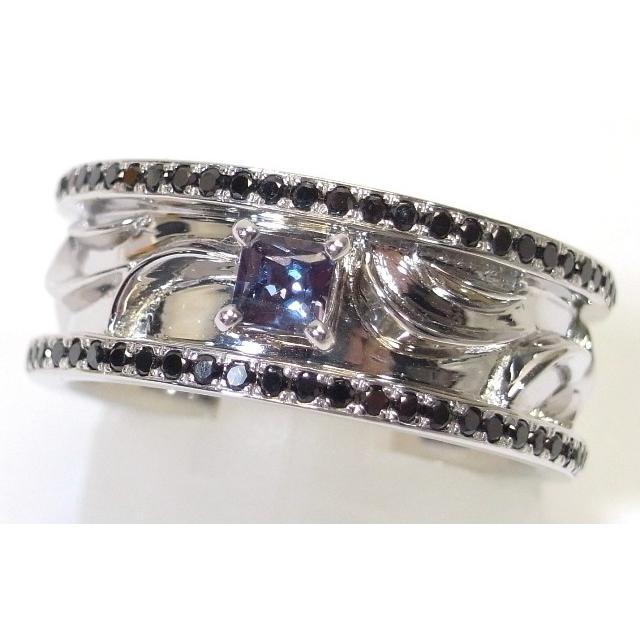 品質満点 K18WG(ホワイトゴールド) アレキサンドライト ダイヤモンド 指輪 リング 16号 鑑別書あり, 東芝ダイレクト 9a0ff789