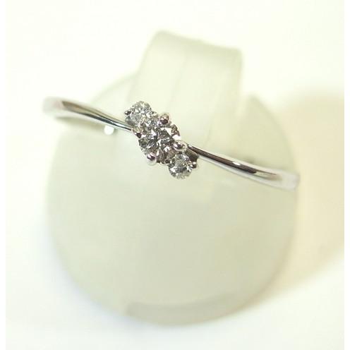 大洲市 K10WG(ホワイトゴールド) ダイヤモンド 指輪 リング 11号, まいどドラッグ 48515d09