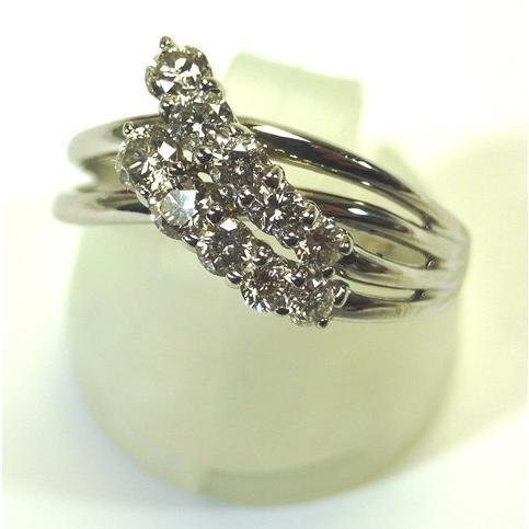 店舗良い Pt900(プラチナ) ダイヤモンド 指輪 リング 12号, 竹田市 513f830f