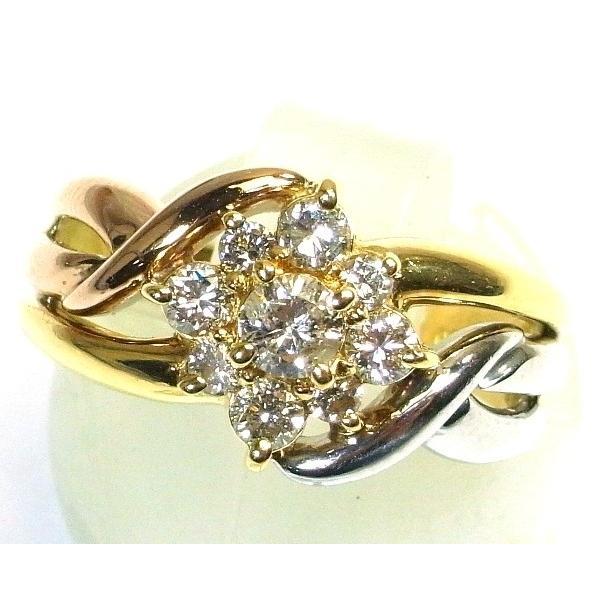 【レビューで送料無料】 K18(ゴールド)/Pt900(プラチナ) ダイヤモンド 指輪 リング 10号 レディース, サヌキシ 367578fe