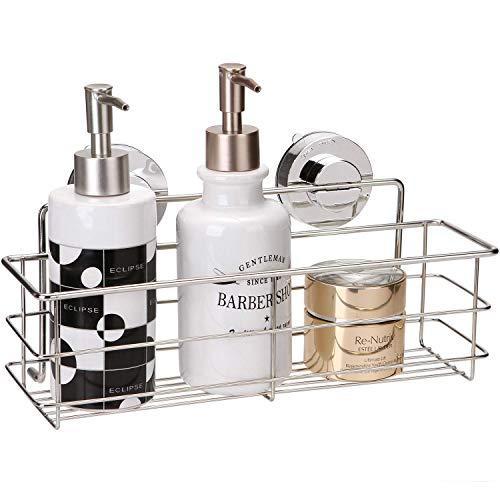 Miya 浴室 ラック 強力吸盤 ステンレス 収納 棚 キッチン お風呂場 バス用 (30*8*8cm)|suetaka-shop|02