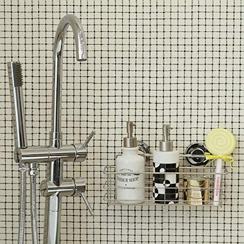 Miya 浴室 ラック 強力吸盤 ステンレス 収納 棚 キッチン お風呂場 バス用 (30*8*8cm)|suetaka-shop|04