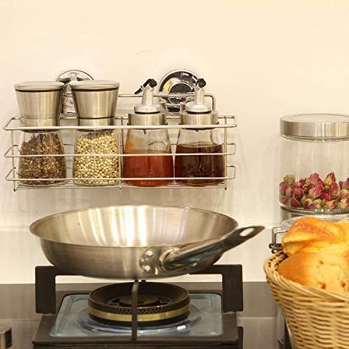 Miya 浴室 ラック 強力吸盤 ステンレス 収納 棚 キッチン お風呂場 バス用 (30*8*8cm)|suetaka-shop|08