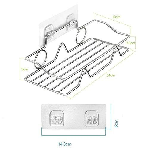 浴室用ラック バス用ラック 収納ラック 付き 強力粘着固定 シャワーラック シャンプー調味料収納 ステンレス?|suetaka-shop|08