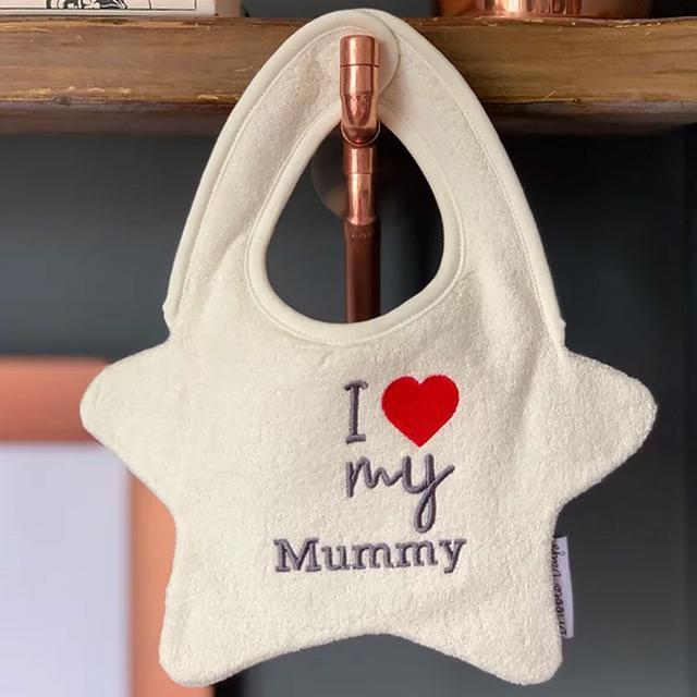 Dribble Days(ドリブルデイズ)I Love My Mammy' White bib|sugardays