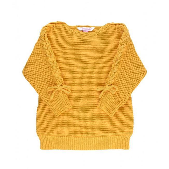 Ruffle Butts【ラッフルバッツ】Golden yellow lace-up ニットチュニック|sugardays|02