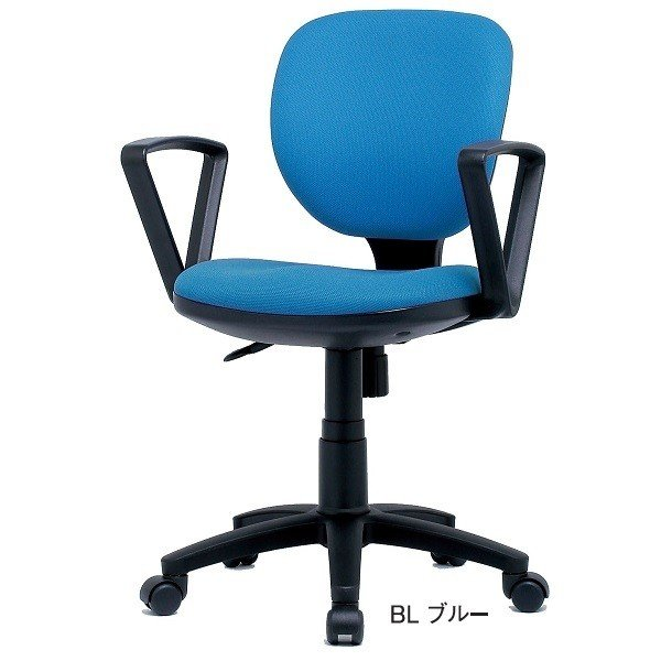 オフィスチェア 固定肘付 事務用イス 回転イス 事務椅子 お客様組立 送料別 送料別 BRUシリーズ BRU-13 AT01