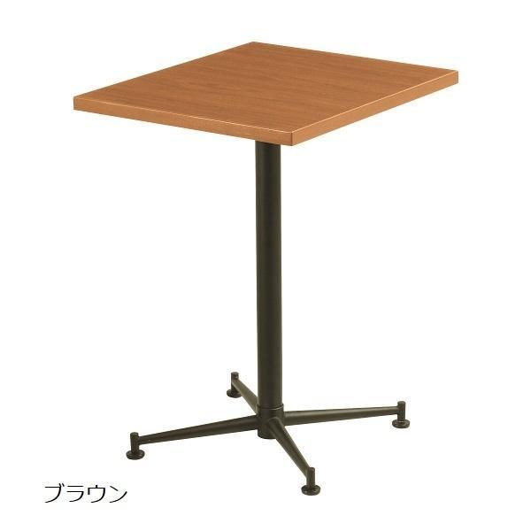 KBT角テーブル リフレッシュテーブル 単柱テーブル 会議用テーブル 角型 W60×D50×H70cm 塗装脚 送料別 お客様組立 受注生産品 KBT-6050T