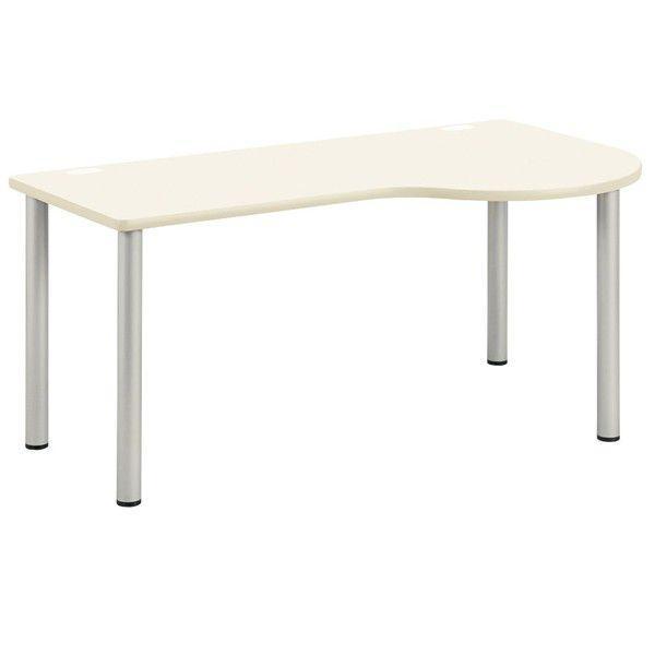 診察テーブル 診察テーブル 医療施設用テーブル 病院用家具 右ラウンド W140×D90×H70cm お客様組立 受注生産品 NSD-1490R