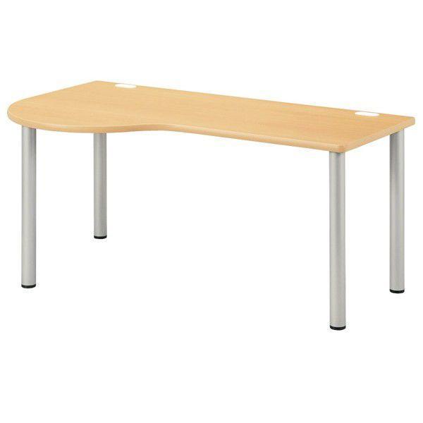 診察テーブル 診察テーブル 医療施設用テーブル 病院用家具 左ラウンド W160×D90×H70cm お客様組立 受注生産品 NSD-1690L
