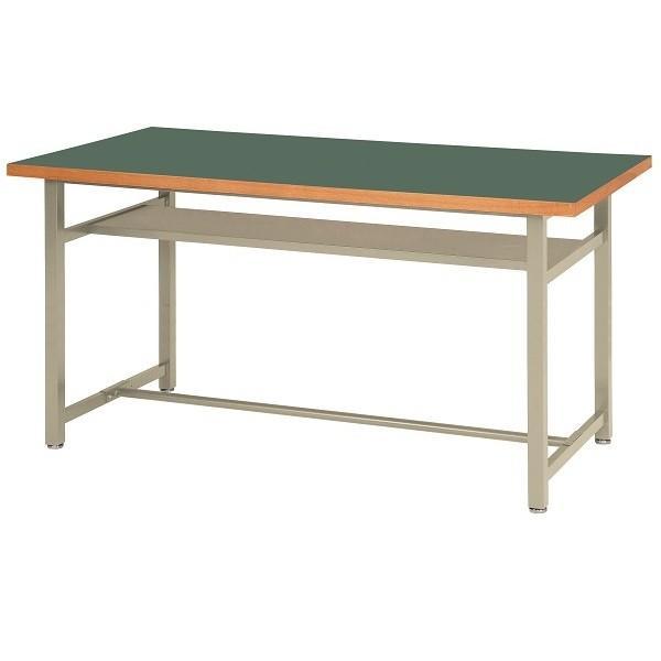 高さ90cm 立ち作業台 ワークベンチ 作業台テーブル ロンリウム天板 均等耐荷重 150kg W1500×D750×H900mm 受注生産 OHM-1575H-L