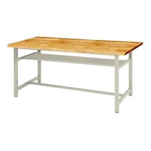 高さ74cm 作業台 ワークベンチ 作業台テーブル ゴム集成材天板 均等耐荷重 150kg W1800×D900×H740mm 受注生産 OHM-1890-G
