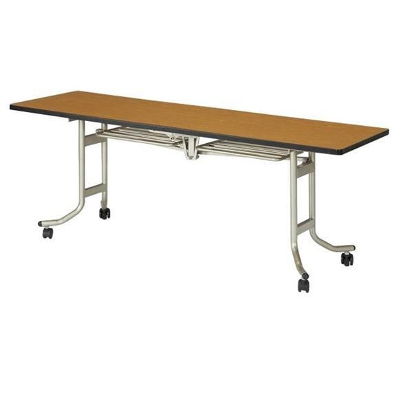 天板折りたたみテーブル W1800×D450×H700mm 会議用テーブル キャスター付テーブル フォールディングテーブル 会議用机 国産 受注生産品 OS-1845S OS-1845S