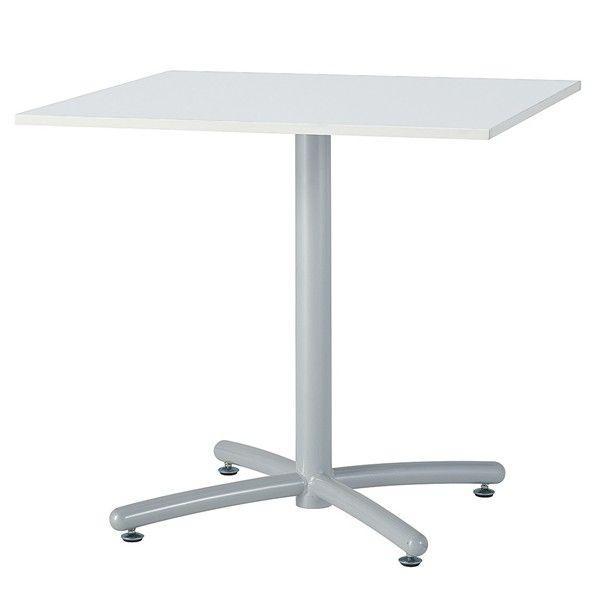 UTS角テーブル リフレッシュテーブル 単柱テーブル 会議用テーブル 角型 W75×D75×H70cm お客様組立 送料別 UTS-S750K UTS-W750K