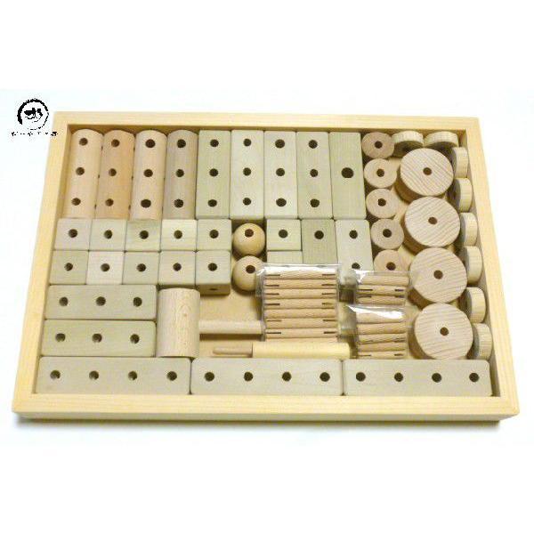 くみ木の知育玩具(特製プレミアムセット)組み木玩具 ほおの木使用 安心の無塗装・無着色
